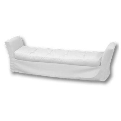 Alquiler de mobiliario para eventos. banco aun puff divan blanco