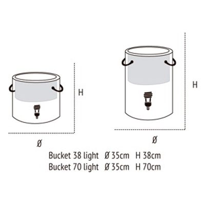 Medidas de Bucket Light