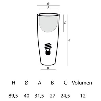 Medidas de Bucket Light L