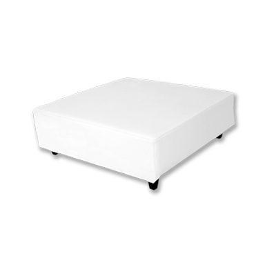 Alquiler de mobiliario. mesa puff mini blanco