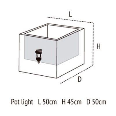 Medidas de Pot Light