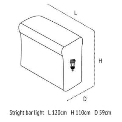 Medidas de Stright bar Light