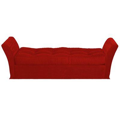 Alquiler de mobiliario chill out. Aun puff divan rojo