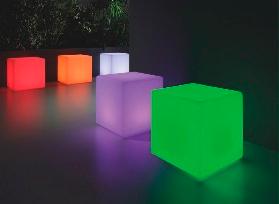 box light. Mobiliario retroiluminado