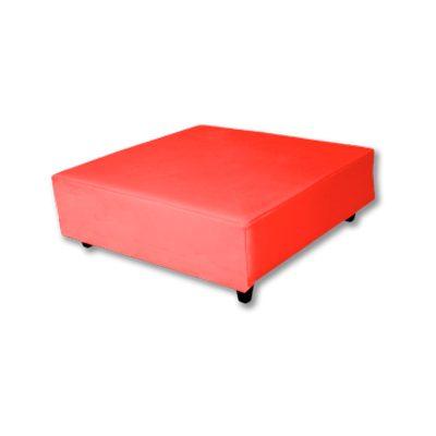Alquiler de mobiliario. mesa puff mini rojo