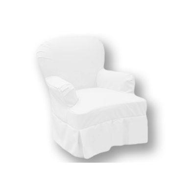 Alquiler de mobiliario para eventos. Sillón Parati Blanco