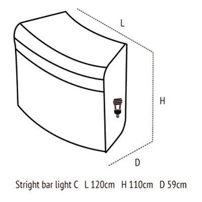 Medidas de straight bar light c
