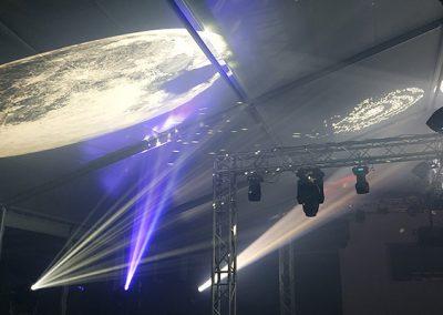 Trabajos realizados de iluminación espectacular de living zone