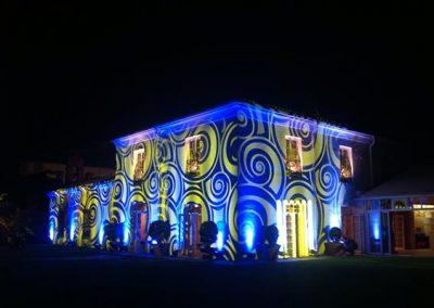 Iluminación con texturas para fiestas y eventos