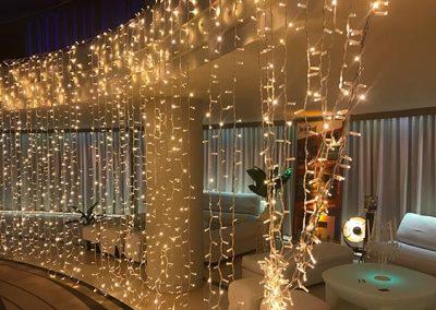 Cortinas de luces led para eventos y fiestas
